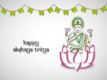De Achtergrond van Akshayatritiya Stock Afbeeldingen