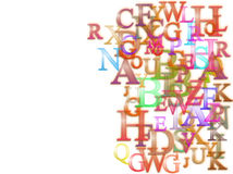 De achtergrond van alfabetten Royalty-vrije Stock Afbeeldingen