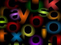 De achtergrond van alfabetten Stock Foto