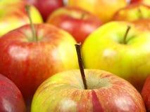 De achtergrond van appelen Royalty-vrije Stock Afbeeldingen