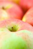 De achtergrond van appelen stock fotografie