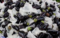 De achtergrond van aubergines Royalty-vrije Stock Fotografie