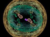 De achtergrond van bacteriën geeft terug Stock Afbeelding