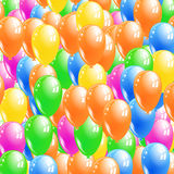 De achtergrond van ballons Stock Afbeelding