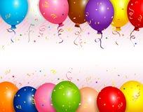 De achtergrond van ballons Stock Foto