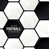 De Achtergrond van de de Baloppervlakte van het Grungevoetbal royalty-vrije stock foto
