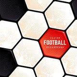 De Achtergrond van de de Baloppervlakte van het Grungevoetbal stock foto's