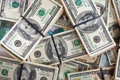 De achtergrond van bankbiljetten Royalty-vrije Stock Fotografie