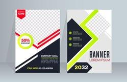 De achtergrond van de banner Bedrijfs malplaatje Modern ontwerp Het vector abstracte malplaatje van de ontwerpbanner vector illustratie