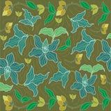 De achtergrond van batiksarongen in Thailand, traditionele batik royalty-vrije illustratie