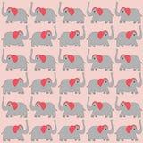 De achtergrond van beeldverhaalolifanten Stock Foto