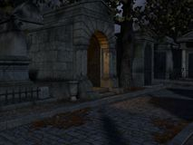 De Achtergrond van begraafplaatshalloween vector illustratie