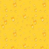De Achtergrond van bierdalingen, Naadloos Vectorpatroon Stock Fotografie