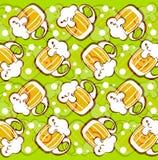 De achtergrond van biermokken Stock Afbeeldingen