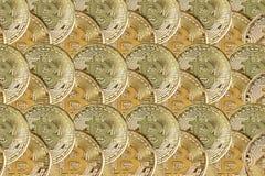 De achtergrond van bitcoin Royalty-vrije Stock Afbeelding