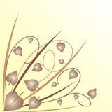 De achtergrond van bladeren royalty-vrije illustratie