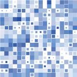 De achtergrond van de blauwe vierkanten op het wit royalty-vrije illustratie