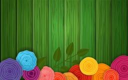 De achtergrond van de Bloem van de lente Vector affiche royalty-vrije illustratie