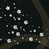 De achtergrond van bloemen Stock Afbeelding