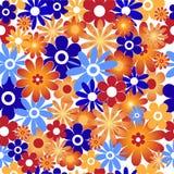 De achtergrond van bloemen. Naadloos Royalty-vrije Illustratie