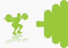 De achtergrond van Bodybuilding stock illustratie