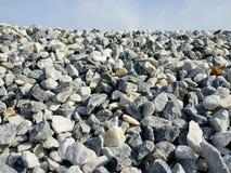 De achtergrond van bouwkiezelstenen Stenen voor bouw stock foto
