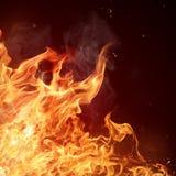 De achtergrond van brandvlammen Stock Fotografie