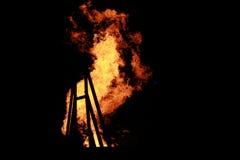 De achtergrond van brandvlammen Stock Afbeelding