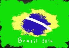 De achtergrond van Brazilië 2014 Stock Afbeelding