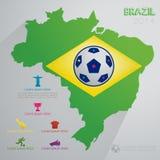 De Achtergrond van Brazilië Royalty-vrije Stock Afbeeldingen
