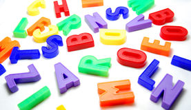 De Achtergrond van brieven stock foto