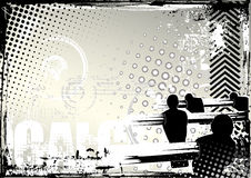 De achtergrond van Calcetto grunge vector illustratie