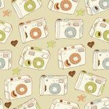 De achtergrond van camera's Stock Fotografie
