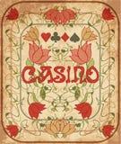 De achtergrond van de casinopook in Jugendstilstijl Stock Fotografie