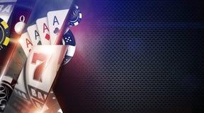 De Achtergrond van casinospelen Stock Afbeeldingen