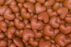 De Achtergrond van chocoladeharten Stock Afbeelding