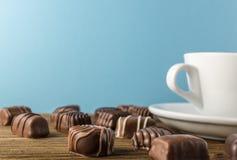 De achtergrond van chocoladesnoepjes Royalty-vrije Stock Foto