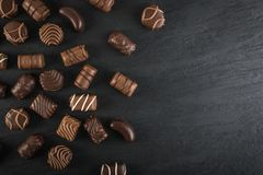 De achtergrond van chocoladesnoepjes Royalty-vrije Stock Afbeelding