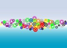 De achtergrond van cirkels Stock Afbeeldingen