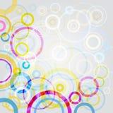 De achtergrond van cirkels Stock Foto