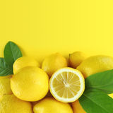 De achtergrond van citroenen royalty-vrije stock foto's