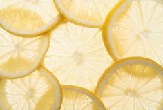 De achtergrond van citroenen Royalty-vrije Stock Afbeelding