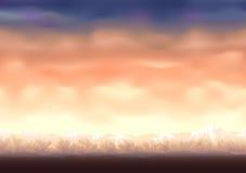 De achtergrond van Cloudscape royalty-vrije illustratie
