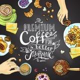 De achtergrond van Cofee Stock Afbeelding
