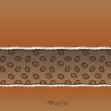 De achtergrond van Coffe Royalty-vrije Stock Fotografie