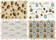 De achtergrond van Coffe Stock Illustratie