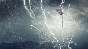 De achtergrond van connectiviteitskoorden Royalty-vrije Stock Foto