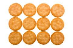 De achtergrond van crackers stock foto's