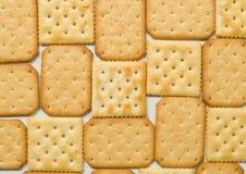 De achtergrond van crackers Stock Foto