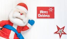 De achtergrond van Cristmas Rode decoratie Vrolijke Cristmas-groetkaart Royalty-vrije Stock Afbeelding